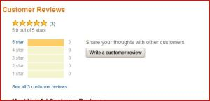 Write a customer review button